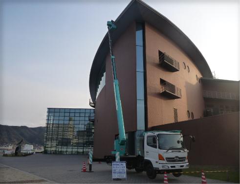 しものせき水族館「海響館」大屋根ライトアップLED照明改修電気工事