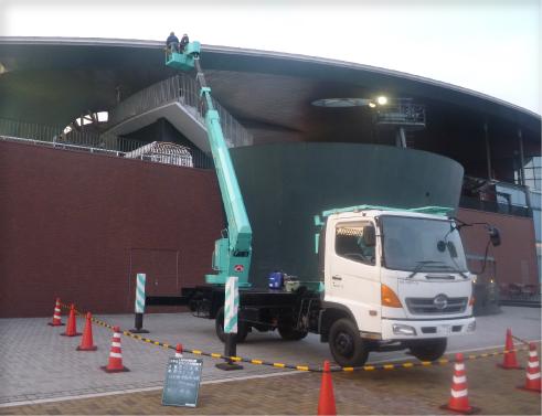 しものせき水族館「海響館」大屋根ライトアップLED照明改修電気工事の画像2