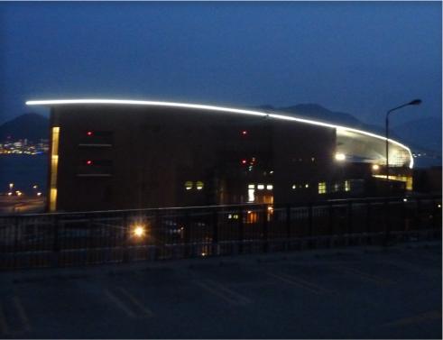 しものせき水族館「海響館」大屋根ライトアップLED照明改修電気工事の画像3
